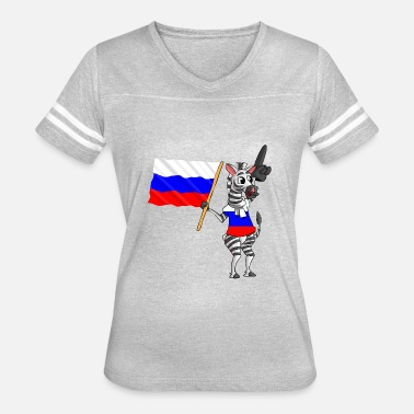 Russian Cartoon A Russian Zebra - Women's Vintage Sport T-Shirt