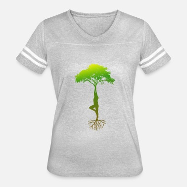 I Love Mind & YOGA FREE YOUR MIND - TREE - I LOVE YOGA - Women's Vintage Sport T-Shirt