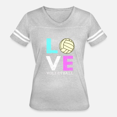 I Love Volleyball Awesome Girls & Womens Volleyball Gift They LOVE Volleyball - Women's Vintage Sport T-Shirt