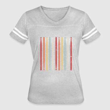Percussion Sticks Retro Drum Sticks | Marching Band Percussion - Women's Vintage Sport T-Shirt