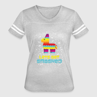 Pinata Smashed Mexico Papier Mache Drink Gift Idea - Women's Vintage Sport T-Shirt