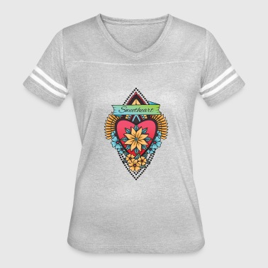 American Tradition American Traditional Tattoo Heart - Women's Vintage Sport T-Shirt