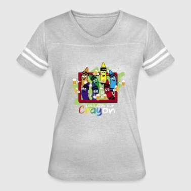 Crayon Shirt Drinking Let's Get Our CRAYon - Women's Vintage Sport T-Shirt