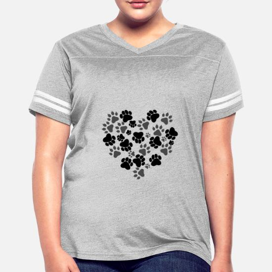 7b4d74124 Cat and Dog Paws Women's Vintage Sport T-Shirt | Spreadshirt