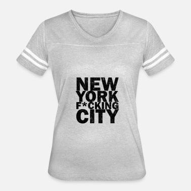 771bb815c60de new york fucking city Women s Rolled Sleeve T-Shirt