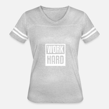 Workaholic Funny Work Hard Matching Family daddy and son - Women's Vintage Sport T-Shirt