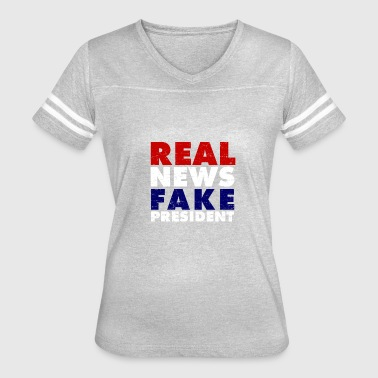 Anti-liberal News Vintage Real news Fake President 8645 - Women's Vintage Sport T-Shirt