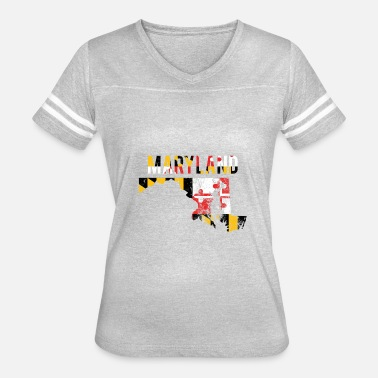 Maryland State Maryland Flag - Vintage Text State Flag - Women's Vintage Sport T-Shirt