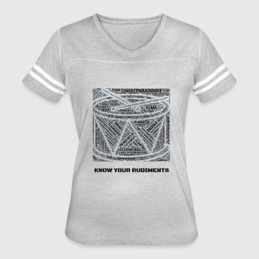 Rudimental Know Your Rudiments - Women's Vintage Sport T-Shirt