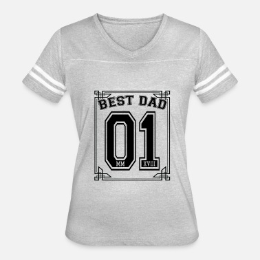 No 1 Best Dad Best Dad No 1 - Women's Vintage Sport T-Shirt