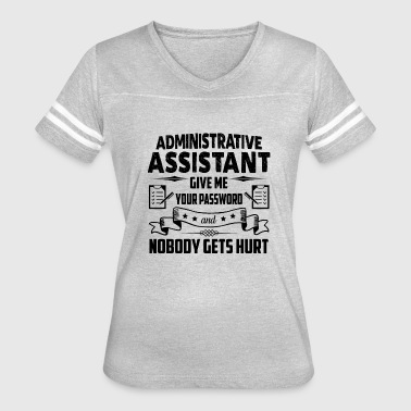 Administrative Assistant Funny Funny Administrative Assistant Shirt - Women's Vintage Sport T-Shirt