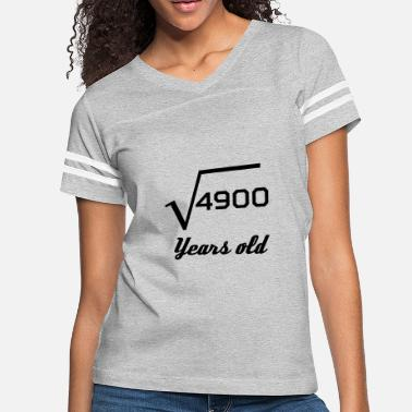 Square Square Root Of 4900 70 Years Old - Women's Vintage Sport T-Shirt