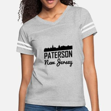 State Of New Jersey Paterson New Jersey Skyline - Women's Vintage Sport T-Shirt