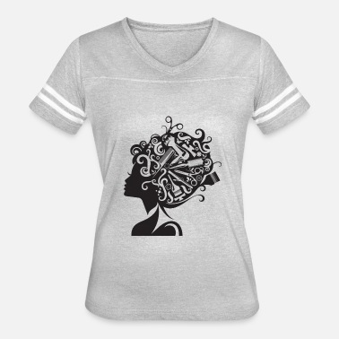 Hairstyle Beauty Salon Hairstyle Hairdresser Cosmetic Care - Women's Vintage Sport T-Shirt