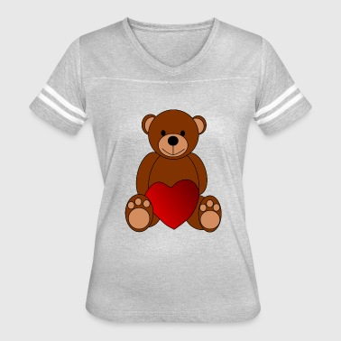 Pedo bear teddy heart pedo darling - Women's Vintage Sport T-Shirt