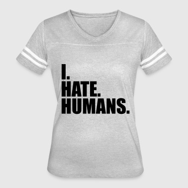Fuck Humanity cool logo humans text sticker fuck you fuck off ro - Women's Vintage Sport T-Shirt