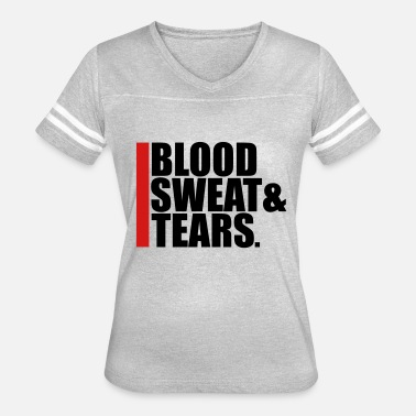 Crying Blood tears sweat blood blood cry tears beam blood exhau - Women's Vintage Sport T-Shirt