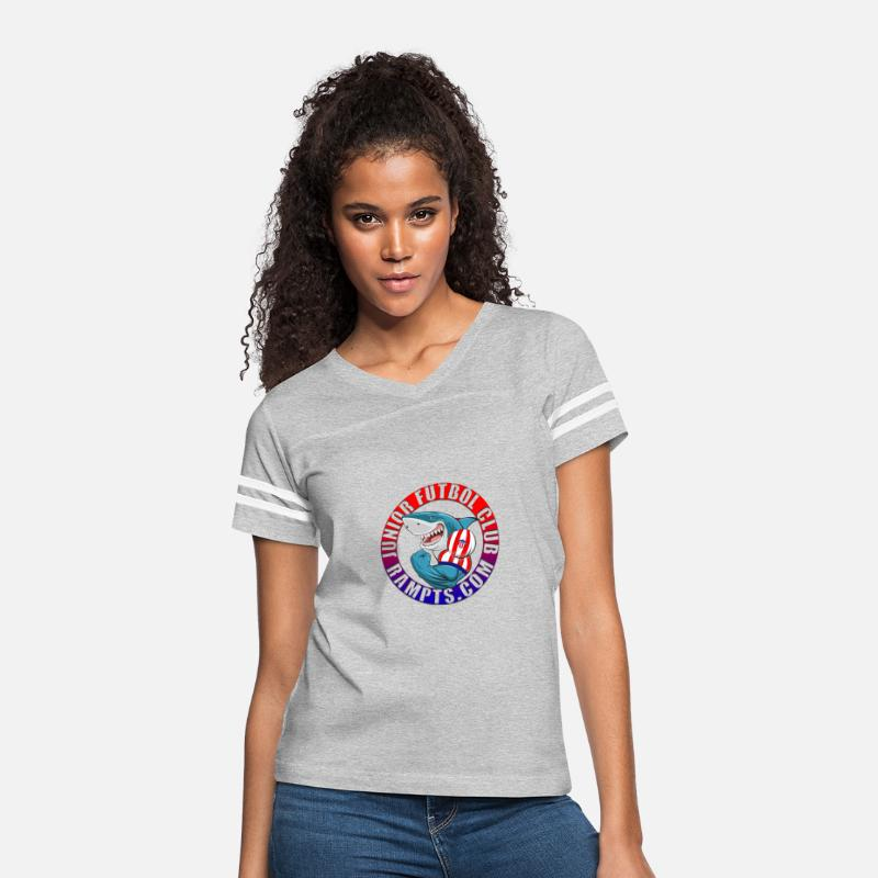 Junior T-Shirts - Junior de Barranquilla - Women's Vintage Sport T-Shirt heather gray/white