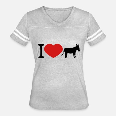 Donkeys i love love heart donkey horse pony small packelse - Women's Vintage Sport T-Shirt