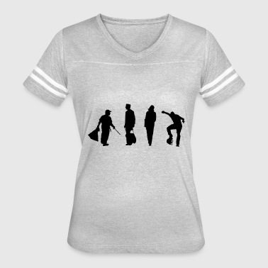 Urban people silhouette - Women's Vintage Sport T-Shirt