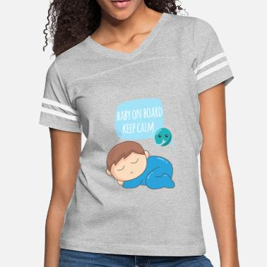 baby on board keep calm - Women's Vintage Sport T-Shirt