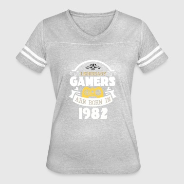 Legendary Gamers Are Born In 1982 - Women's Vintage Sport T-Shirt