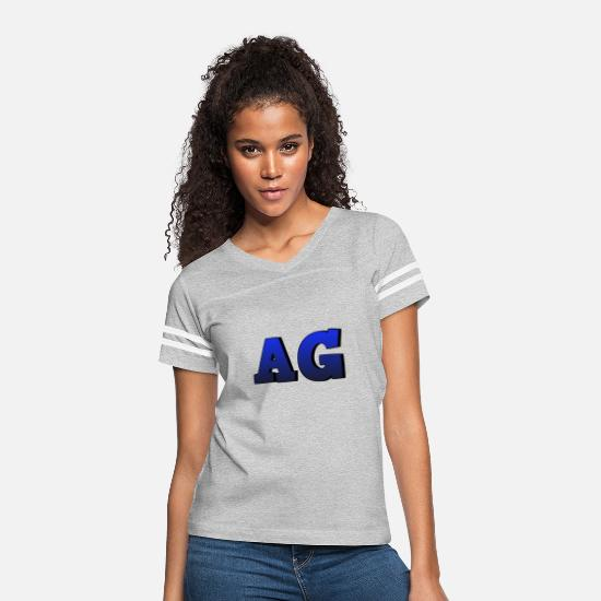 Ag T-Shirts - AG - Women's Vintage Sport T-Shirt heather gray/white