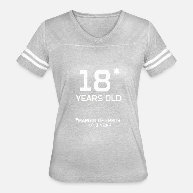 18 Year Old 18 Years Old Margin 1 Year - Women's Vintage Sport T-Shirt