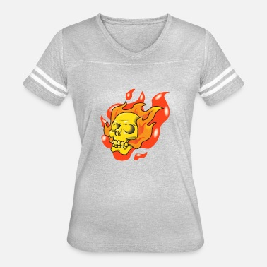 Fire Fighter Skull skull fire - Women's Vintage Sport T-Shirt