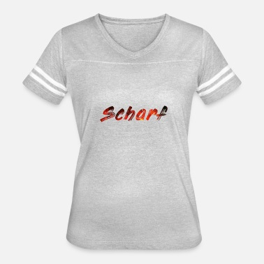 Flaming Words Scharf - Women's Vintage Sport T-Shirt