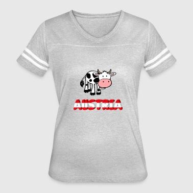 Funny Austria Austria with funny cow - Women's Vintage Sport T-Shirt