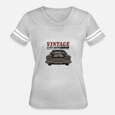 Womens Muscle Car Muscle Car Show - Women's Vintage Sport T-Shirt