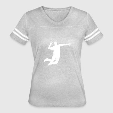Volleyball Player Silhouette - Women's Vintage Sport T-Shirt