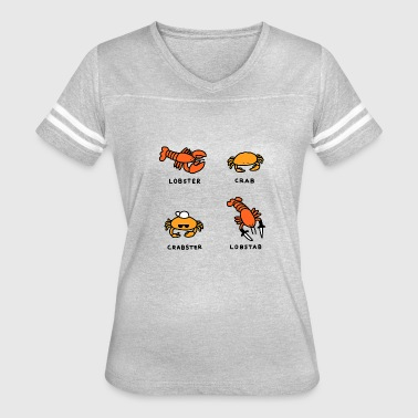 Crab Lobster Lobster Crab Funny Illutrator Sea - Women's Vintage Sport T-Shirt