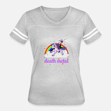 Death Metal Rainbow Unicorn death Metal rainbow - Women's Vintage Sport T-Shirt