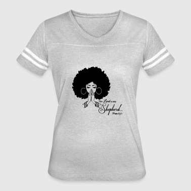 Black Hairstyle Black Women Praying God Believe Afro Hairstyle - Women's Vintage Sport T-Shirt