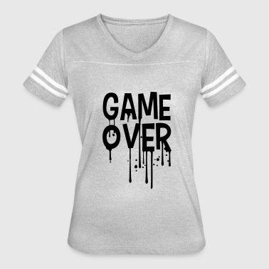 Puke Games graffiti drop game over puke vomit nausea vomit pu - Women's Vintage Sport T-Shirt