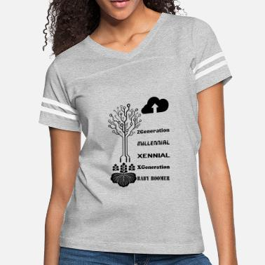 Tree generation blak - Women's Vintage Sport T-Shirt