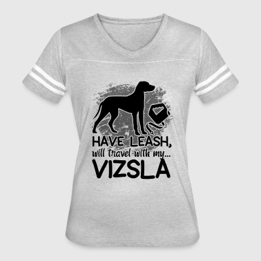 Leash Vizsla Travel Leash Shirt - Women's Vintage Sport T-Shirt