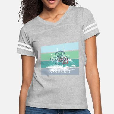 Yachting Sailing Nantucket North Harbour Design - Women's Vintage Sport T-Shirt