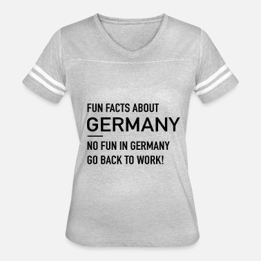 Fun Fact Fun Facts About Germany - Women's Vintage Sport T-Shirt