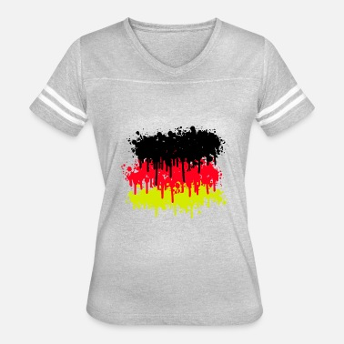 Flag Of Germany germany flag, germany, soccer - Women's Vintage Sport T-Shirt