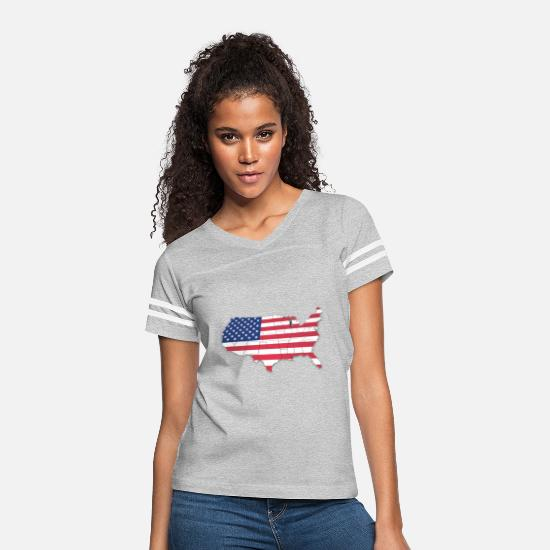 Flag T-Shirts - United states - Women's Vintage Sport T-Shirt heather gray/white