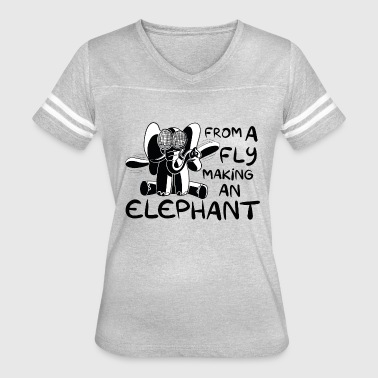 Olifant From a fly making an elephant - Dutch sayings - Women's Vintage Sport T-Shirt