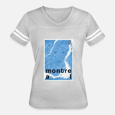 Blue Monkey Montreal hipster city map blue - Women's Vintage Sport T-Shirt