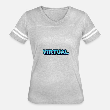 Virtualization Virtual Logo - Women's Vintage Sport T-Shirt
