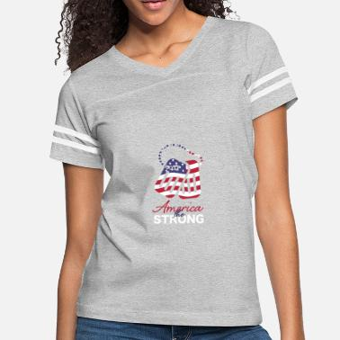 Toe Tag America the Strong toe tags army 4th of July - Women's Vintage Sport T-Shirt