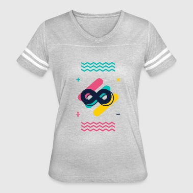 Subtraction Math Symbol Infinity add subtract multiply divide - Women's Vintage Sport T-Shirt