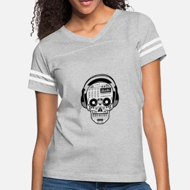 rap music skeleton head - Women's Vintage Sport T-Shirt