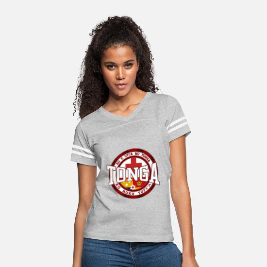 Tonga T-Shirts - Tonga - Women's Vintage Sport T-Shirt heather gray/white